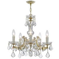 Crystorama Maria Theresa Collection 5-light Gold/Swarovski Strass Crystal Mini Chandelier