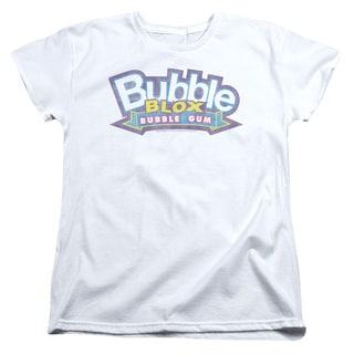 Dubble Bubble/Bubble Blox Short Sleeve Women's Tee in White