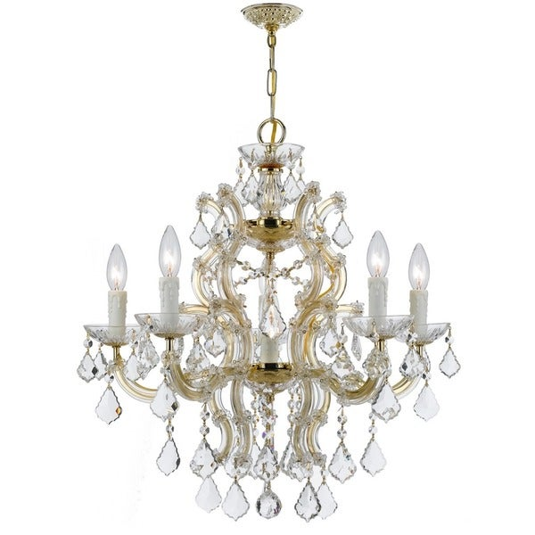 Crystorama Maria Theresa Collection 6-light Gold/Swarovski Elements Spectra Crystal Chandelier