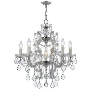 Crystorama Maria Theresa Collection 6-light Polished Chrome/Swarovski Spectra Crystal Chandelier - Chrome