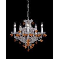 Crystorama Maria Theresa Collection 6-light Chrome/ Crystal Mini Chandelier