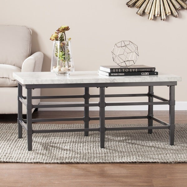 Shop Harper Blvd Timmons Faux Marble Coffee Cocktail Table Free Shipping Today Overstock