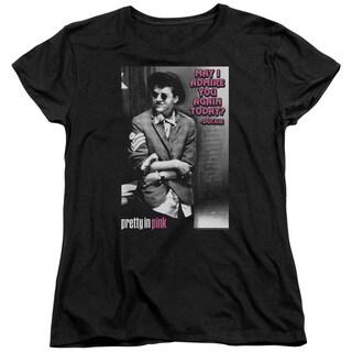 Pretty in Pink/Admire Short Sleeve Women's Tee in Black