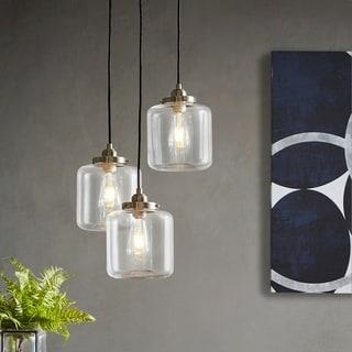 Carbon Loft Mangano Bronze Three-light Pendant