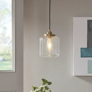 Carbon Loft Mangano Single Pendant in Antique Brass (As Is Item)