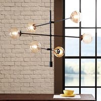 INK+IVY Cyrus 6-light Bronze Iron Chandelier