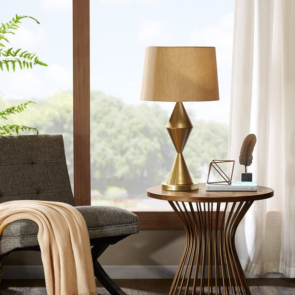 INK+IVY Corvalis Gold Table Lamp