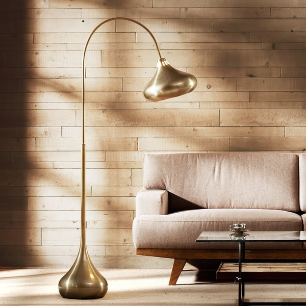 INK+IVY Arlo Gold Floor Lamp