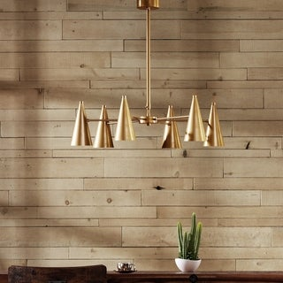 INK+IVY Bellac Gold Chandelier