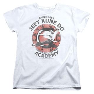 Bruce Lee/Jeet Kune Short Sleeve Women's Tee in White
