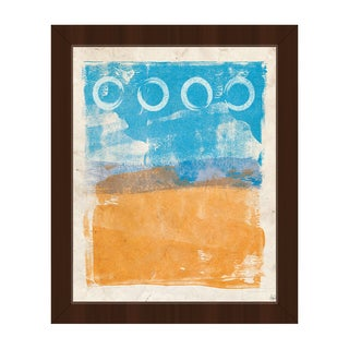 Things I See From Here' Espresso Plastic Framed Canvas Wall Art