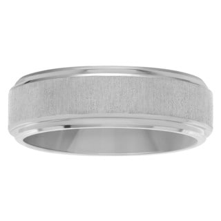 Territory Men's Titanium 7 mm Frosted Brushed Center Wedding Band