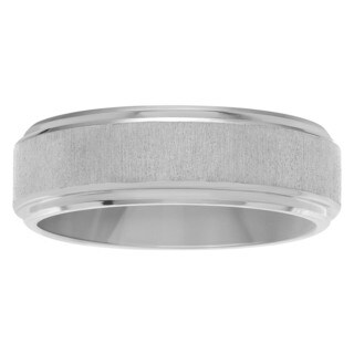 Territory Men's Titanium 7 mm Frosted Brushed Center Wedding Band (3 options available)