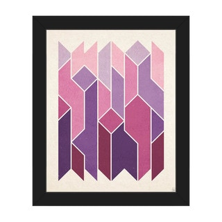 Crystal Towers' Purple Framed Canvas Wall Art
