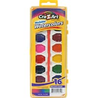 Cra-Z-Art 10652 16 Count Assorted Washable Watercolors With Brush