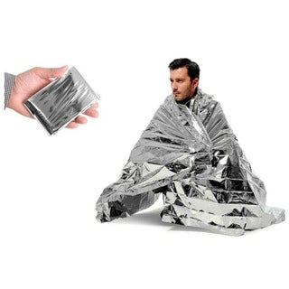 ETCBUYS Mylar Waterproof Thermal Emergency Survival Camping Blankets (Pack of 3)