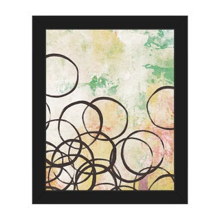 Ring Toss Spring' Black-framed Canvas Wall Art