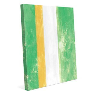 Multicolored Canvas Striped Abstract Wall Art