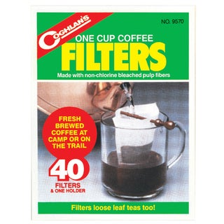 Coghlans 9570 One Cup Coffee Filters 40-count