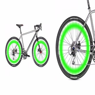 ETCBUYS Stainless Steel Motion-activated Bicycle Wheel Safety LED Lights (Set of 2)