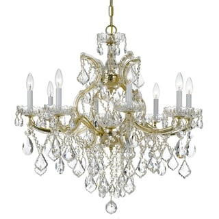 Crystorama Maria Theresa Collection 9-light Gold/Swarovski Spectra Crystal Chandelier