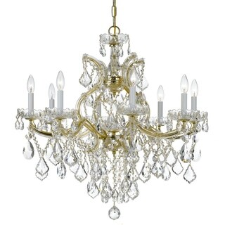 Crystorama Maria Theresa Collection 9-light Gold/Swarovski Elements Spectra Crystal Chandelier