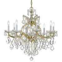 Crystorama Maria Theresa 9-light Gold/Swarovski Strass Crystal Chandelier - Gold