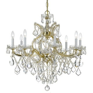 Crystorama Maria Theresa Collection 9-light Gold/Swarovski Elements Strass Crystal Chandelier