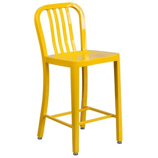 24 inches Metal Stool w/ Back