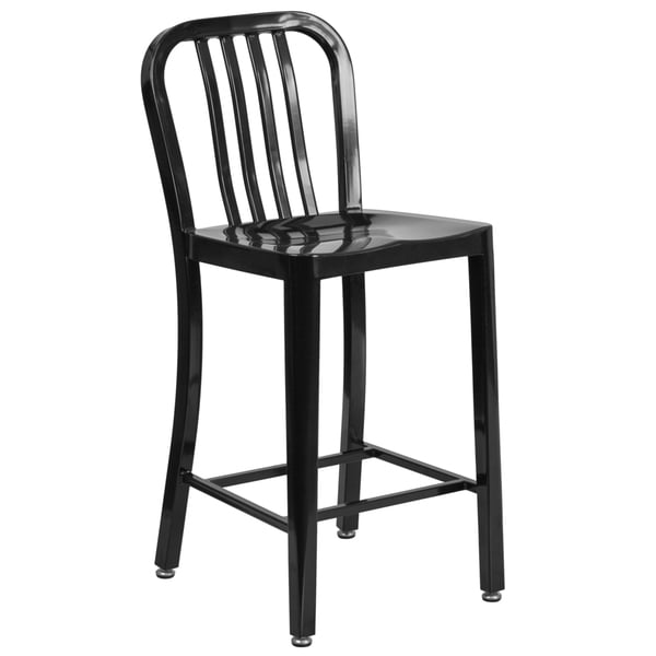 24 Inches Metal Stool W Back Free Shipping Today