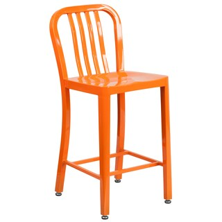 Porch & Den Stonehurst Stoneford 24-inch Metal Stool (Option: Orange)