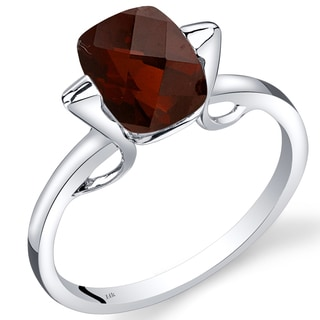 Oravo 14k White Gold 2 1/2ct TGW Garnet Solitaire Ring