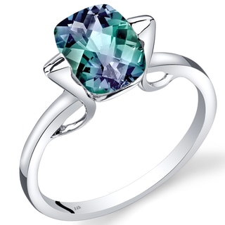 Oravo 14k White Gold 2 1/2ct TGW Created Alexandrite Solitaire Ring
