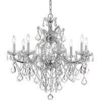 Crystorama Maria Theresa Collection 9-light Polished Chrome/Swarovski Elements Spectra Crystal Chandelier