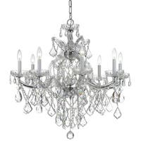 Crystorama Maria Theresa Collection 9-light Polished Chrome/Swarovski Elements Strass Crystal Chandelier