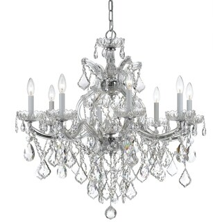Crystorama Maria Theresa Collection 9-light Polished Chrome/Swarovski Elements Strass Crystal Chandelier