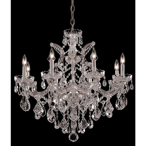 Crystorama Maria Theresa Collection 9-light Polished Chrome/Crystal Chandelier