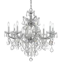 Crystorama Maria Theresa 9-light Chrome/Crystal Chandelier - Chrome