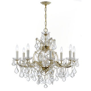 Crystorama Maria Theresa Collection 9-light Gold/Swarovski Strass Crystal Chandelier