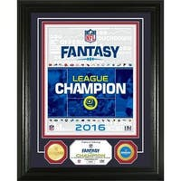 NFL Fantasy Football Gold Champion Bronze Coin Photo Mint