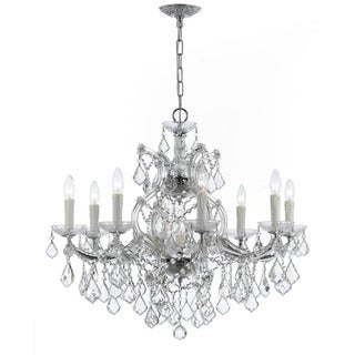 Crystorama Maria Theresa Collection 9-light Polished Chrome/Swarovski Spectra Crystal Chandelier - Chrome
