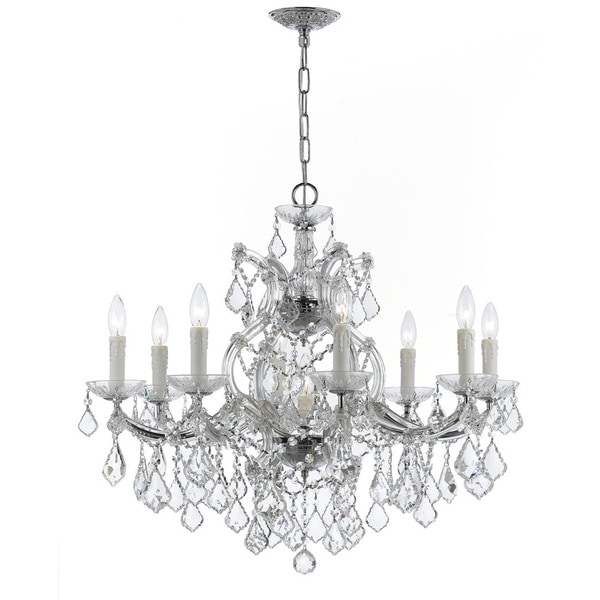 Strass Crystal Chandelier Crystorama maria theresa collection 9 light polished chrome crystorama maria theresa collection 9 light polished chromeswarovski strass crystal chandelier audiocablefo