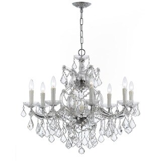 Crystorama Maria Theresa Collection 9-light Polished Chrome/Swarovski Strass Crystal Chandelier
