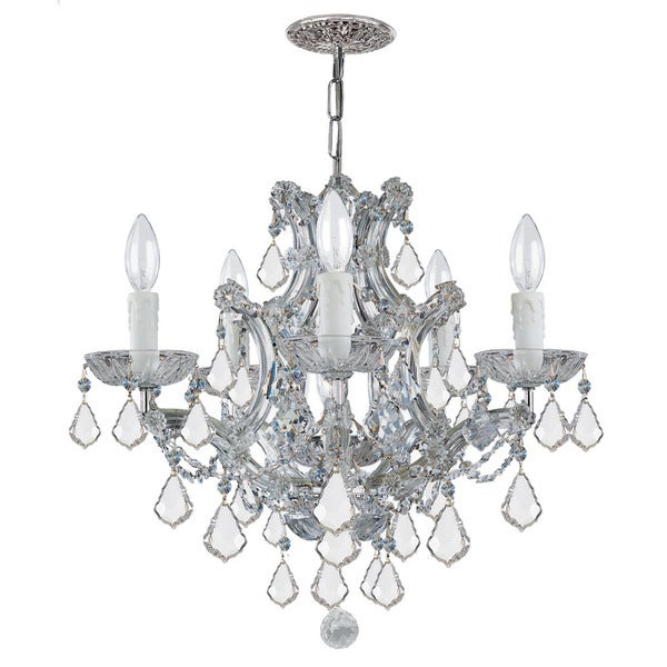 Crystorama Maria Theresa Collection 6-light Polished Chrome/Swarovski Elements Spectra Crystal Chandelier