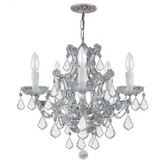 Crystorama Maria Theresa Collection 6-light Polished Chrome/Swarovski Spectra Crystal Chandelier