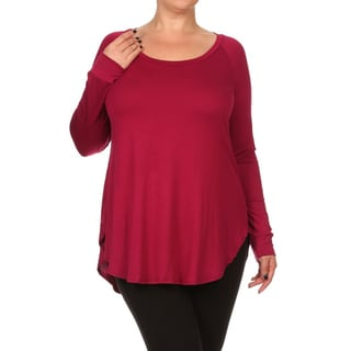 Women's Plus-size Solid Top