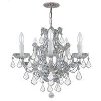 Crystorama Maria Theresa Collection 6-light Polished Chrome/Crystal Chandelier