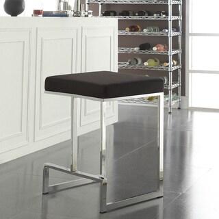 Ida Chrome-plated Metal Base 24-inch Counter-height Stool