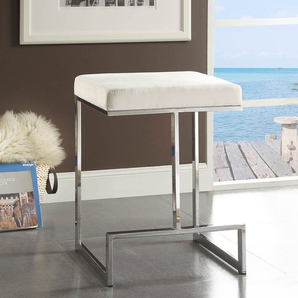 Ida Chrome plated Metal Base 24 inch Counter height Stool  : Ida Chrome plated Metal Base 24 inch Counter height Stool edaea70a fd35 47a4 921e c61ae0b12911600 from www.overstock.com size 600 x 600 jpeg 31kB