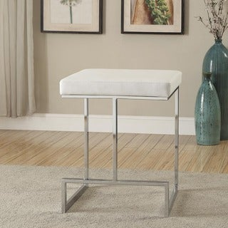 Ida Chrome-plated Metal Base 24-inch Counter-height Stool